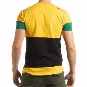 Колоритна тениска Move с жълто  2