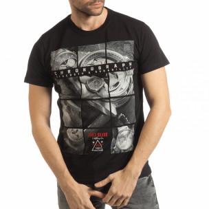 Мъжка черна тениска Chronograph