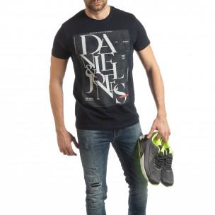 Мъжка тениска Denim Company в синьо