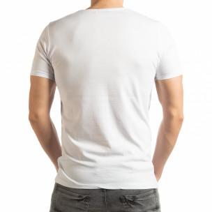 Бяла мъжка тениска Criticize  2
