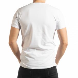 Бяла мъжка тениска She Is What  2