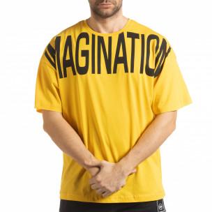 Жълта мъжка тениска Imagination