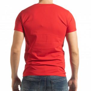 Червена мъжка тениска She Is What  2