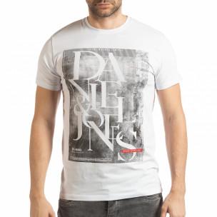 Мъжка тениска Denim Company в бяло