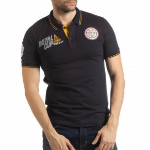 Мъжка тениска polo shirt Royal cup в тъмносиньо