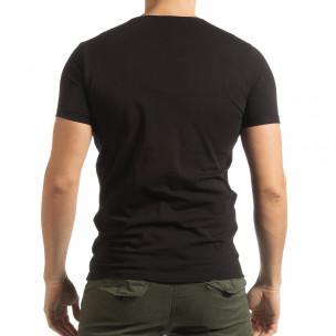 Черна мъжка тениска She Is What  2