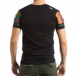 Мъжка черна тениска MTV Life  2