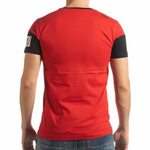 Червена мъжка тениска Money  2