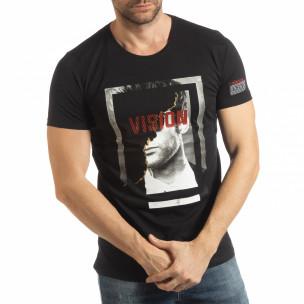Черна мъжка тениска Vision