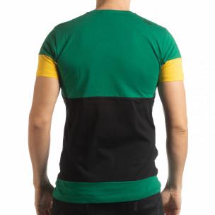 Колоритна тениска Move със зелено  2