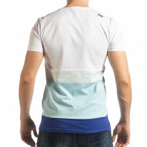 Синьо-бяла мъжка тениска  2
