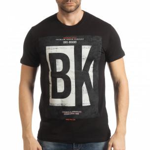 Черна мъжка тениска BK