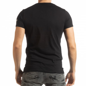 Мъжка черна тениска с образ  2