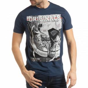 Синя мъжка тениска Originals