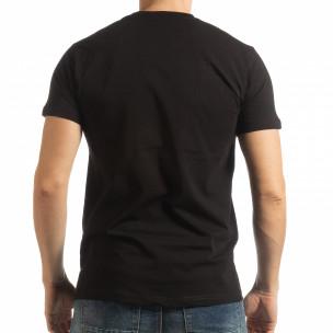 Черна мъжка тениска BK  2