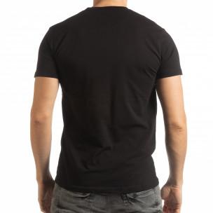 Мъжка рокерска тениска в черно  2