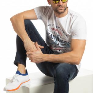 Мъжка бяла тениска Ocean Racing