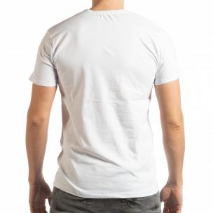 Мъжка тениска Denim Company в бяло  2