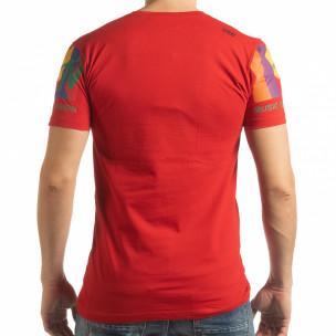 Мъжка червена тениска MTV Life  2