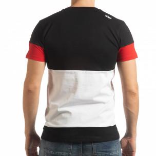 Колоритна тениска Move с черно  2
