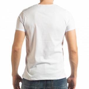 Бяла мъжка тениска Vision  2