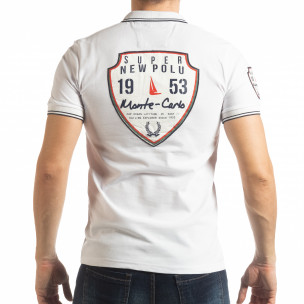 Мъжка тениска polo shirt Royal cup в бяло  2