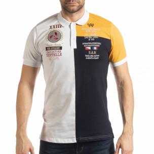 Мъжка тениска с яка WBY Marine style