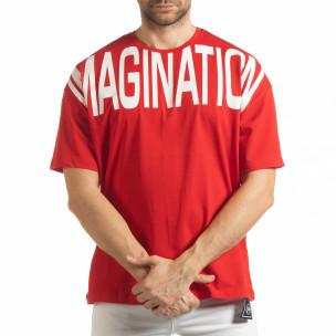 Червена мъжка тениска Imagination