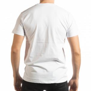 Бяла мъжка тениска Enjoy Your Life  2