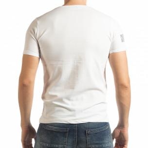 Бяла мъжка тениска Resurrection   2