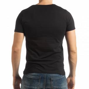 Черна мъжка тениска с принт 1982  2