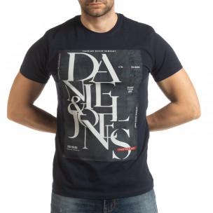 Мъжка тениска Denim Company в синьо 2