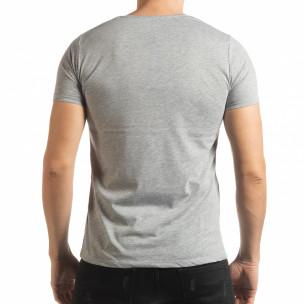 Сива мъжка тениска Criticize  2