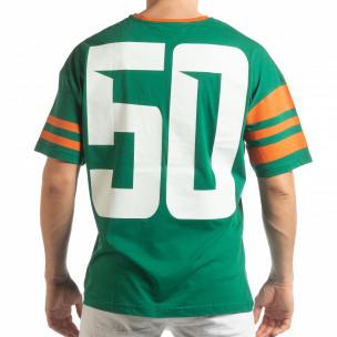 Зелена мъжка тениска The Wave  2