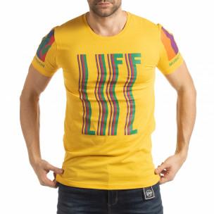 Мъжка жълта тениска MTV Life