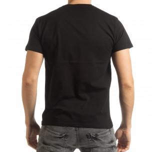 Черна мъжка тениска Street Run 2