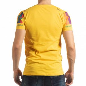 Мъжка жълта тениска MTV Life  2