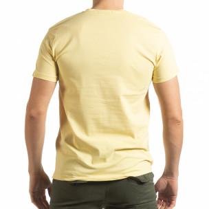 Мъжка тениска Denim Company в жълто  2