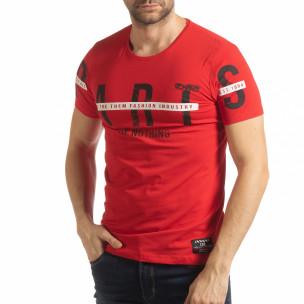 Червена мъжка тениска ART
