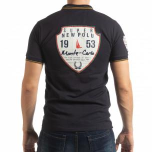 Мъжка тениска polo shirt Royal cup в тъмно синьо 2
