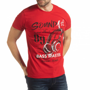 Мъжка червена тениска Sound