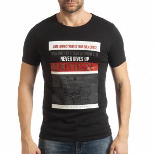 Черна мъжка тениска Criticize