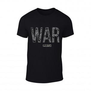 Мъжка черна тениска War