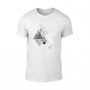 Мъжка бяла тениска Wolf