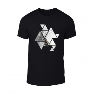 Мъжка черна тениска Wolf