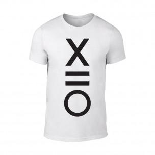Мъжка бяла тениска XO TEEMAN