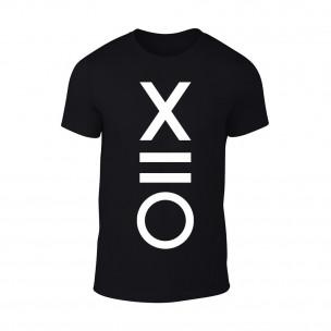 Мъжка черна тениска XO