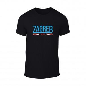 Мъжка черна тениска Zagreb
