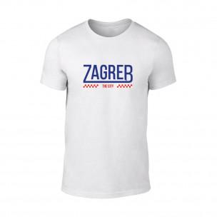 Мъжка бяла тениска Zagreb