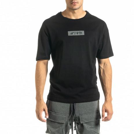Мъжка черна тениска Hip Hop стил